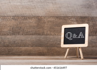 blackboard with Q&A text
