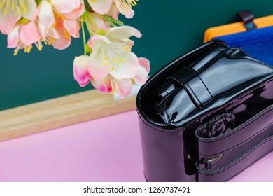 Blackboard and school bag(image of admission)