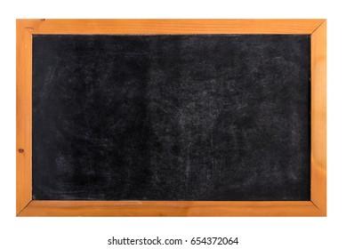 Blackboard school blackboard with frame wooden on isolated