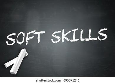 Blackboard with Soft Skills wording