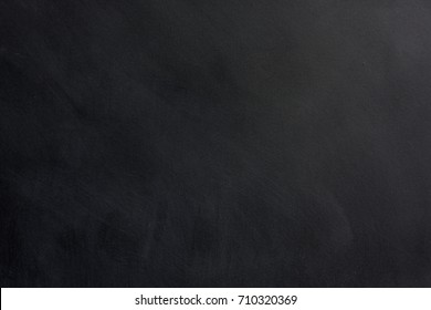 Blackboard with space to add text or graphic design. Chalk stains on blackboard.  education of school concept.