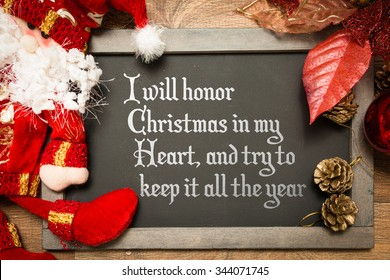 blackboard with the text i will honor christmas in my heart and try to - Christmas In My Heart