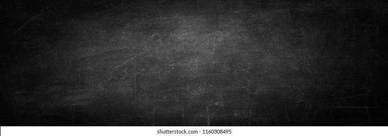 blackboard texture and black background, copy space horizontal wall