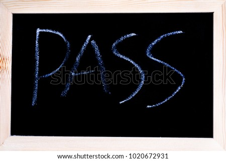 Blackboard White Chalk Writing Showing Word Stock Photo Edit Now