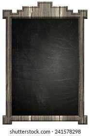 Blackboard with wooden frame