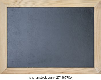Blackboard with wooden frame for background