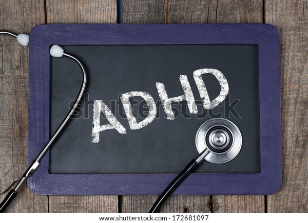 Blackboard with word ADHD and stethoscope