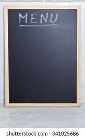 blackboard with the word menu
