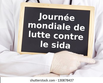 Blackboard : World AIDS Day : French language