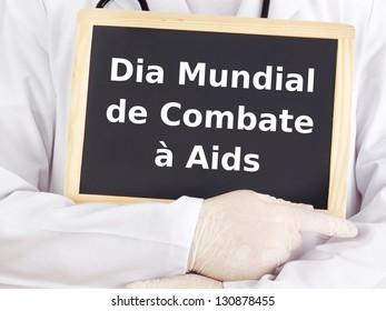Blackboard : World AIDS Day : Portuguese language
