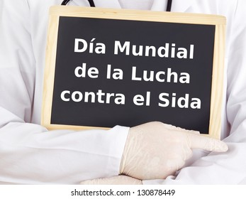 Blackboard : World AIDS Day : Spanish language