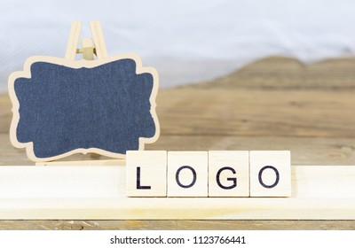 Blackboard to write a logo with letters