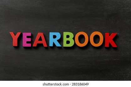 Blackboard with Yearbook