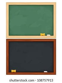 Blackboards on white background