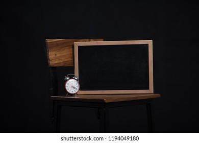 Blackbord background black