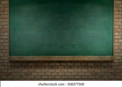 blackbord on red  brick