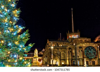 Blackburn Catherdral at Christmas Time