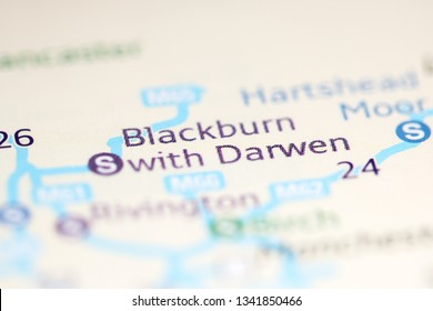 Blackburn with Darwen. United Kingdom on a geography map
