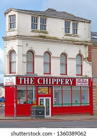 Blackburn, Lancashire/England - 02.04.2019 - The Chippery traditional fish & chips Corporation street Blackburn