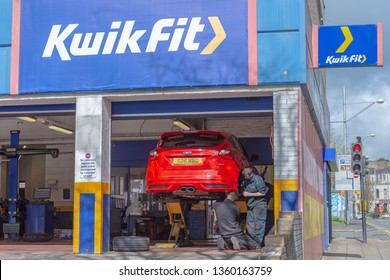 Blackburn, Lancashire/England - 02.04.2019 - Kwik Fit service centre located on Mincing lane Blackburn