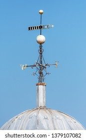 Blackburn, Lancashire/England - 08.04.2019 - St Johns church weather vane blue sky background