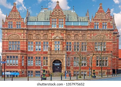 Blackburn, Lancashire/England - 09.11.2018 - The old Technical School opened its doors to students in 1889, it is now known as the Victoria Centre after Queen Victoria`s Golden Jubilee