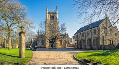 Blackburn, Lancashire/England - 15.02.2019 - Blackburn Cathedral grounds and buildings