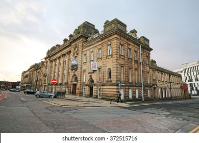BLACKBURN, UK - FEBRUARY 3 2016: Magistrate's Court. Blackburn is a large town in Lancashire, England which lies to the north of the West Pennine Moors on the southern edge of the Ribble Valley,
