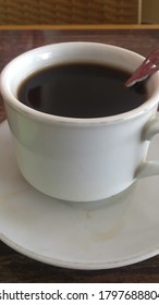 Blackcoffee on the white cup