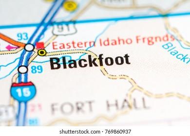 Blackfoot Idaho Usa On Map Stock Photo Edit Now 788945056