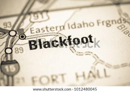 Blackfoot Idaho Usa On Map Stock Photo Edit Now 1012480045