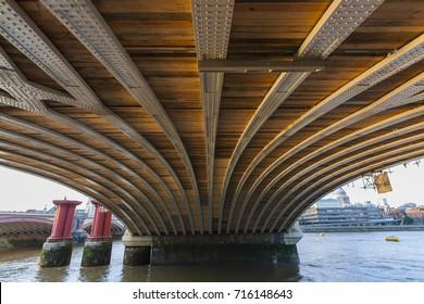 Blackfriars Railway Bridge, London, England, United Kingdom