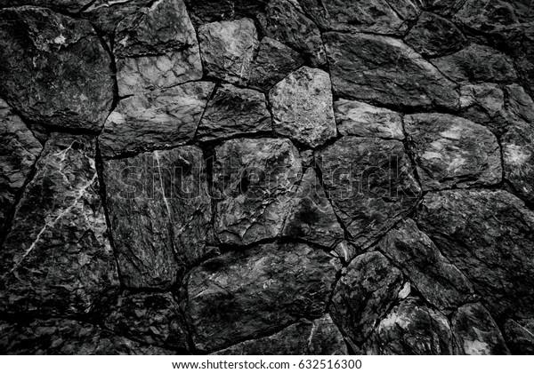 black/gray stone floor texture design