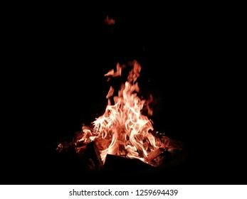 Fire Flame Blaze on Black Blackground