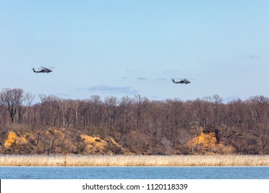 Blackhawk Helicopters over the Potomac River.  March 21, 2018.