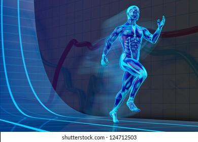 Blacklight Runner Concept muscle anatomy 3D