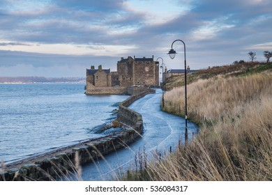 Blackness Castle a 15th century Scottish fortress guarding the south shore of the Firth of Forth. Scotland, UK