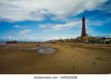 Blackpool Beach and Blackpool Tower