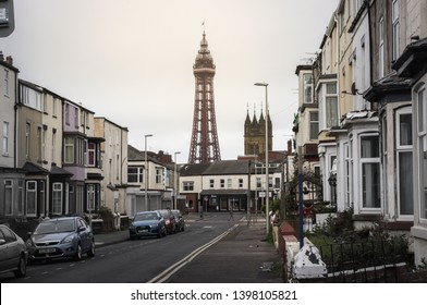 Blackpool England 28th April 2018: Typical housing near blackpool tower and town centre