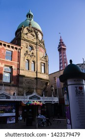 Blackpool, England, May 28th 2019 Blackpool Grand Theatre with Blackpool Tower in the Background