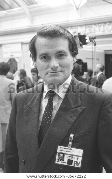 BLACKPOOL, ENGLAND - OCTOBER 10: David Maclean, Conservative party Member of Parliament for Penrith and The Border, attends the party conference on October 10, 1989 in Blackpool, Lancashire.