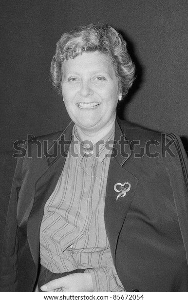 BLACKPOOL, ENGLAND - OCTOBER 10: Lynda Chalker, Minister for Overseas Development and Conservative party M.P. for Wallasey, attends the party conference on October 10, 1989 in Blackpool, Lancashire.