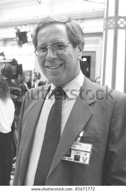 BLACKPOOL, ENGLAND - OCTOBER 10: Michael Knowles, Conservative party Member of Parliament for Nottingham East, attends the party conference on October 10, 1989 in Blackpool, Lancashire.