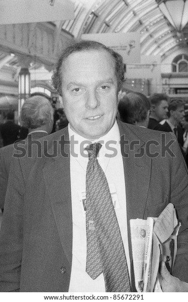 BLACKPOOL, ENGLAND - OCTOBER 10: Michael Ancram, former Conservative party Member of Parliament for Edinburgh South, attends the party conference on October 10, 1989 in Blackpool, Lancashire.