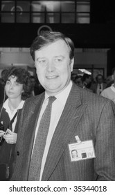 BLACKPOOL, ENGLAND-OCTOBER 10: Kenneth Clarke, Conservative party Member of Parliament for Rushcliffe, visits the party conference on October 10, 1989 in Blackpool, Lancashire.