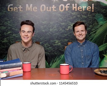 BLACKPOOL, JANUARY 14: Madame Tussauds Blackpool, UK 2018. Declan Joseph Oliver Donnelly and Anthony David McPartlin -are an English producers and actors. I'm a Celebrity...Get Me Out of Here!