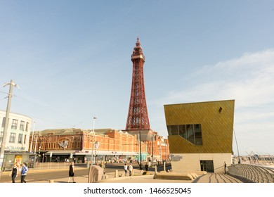 Blackpool, Lancashire. 7th July 2019: The Wedding Chapel, With Blackpool Tower In Background