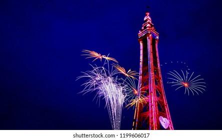 Blackpool Tower Fireworks