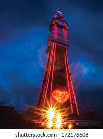 Blackpool tower  in lights