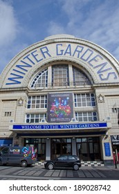 BLACKPOOL, UK - APR 11, 2014:  The Winter Gardens is a large entertainment centre in Blackpool Town Centre.  It has a number of different venues, including theatre, ballroom and conference facilities.